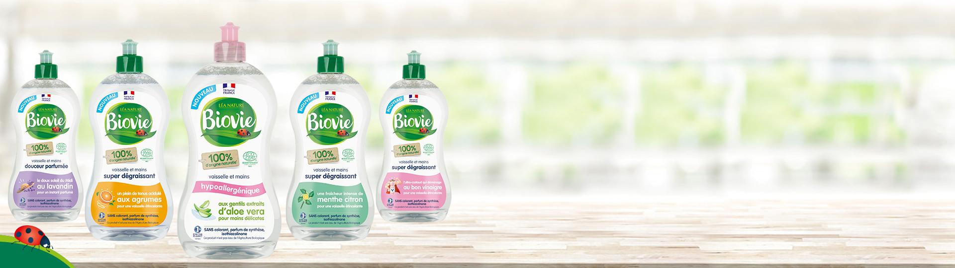 Nouvelle gamme vaisselle et mains Biovie