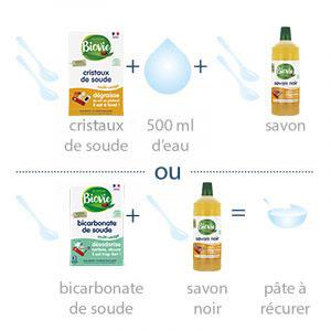 recette Biovie pour nettoyer les surfaces grasses